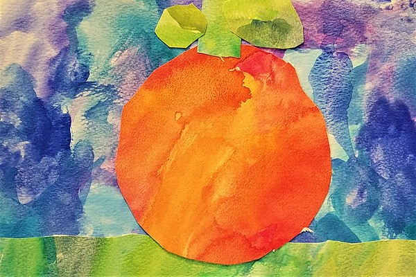 A Pumpkin Patch of Pre-K Paintings