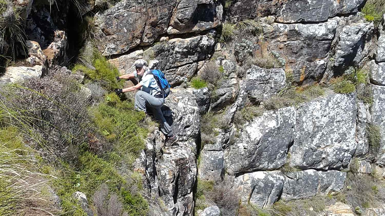 Peggy on the Silvermine scramble