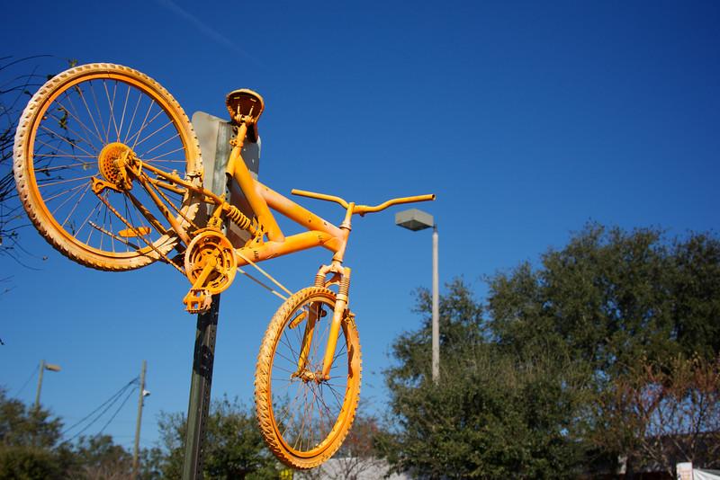 Orange Bike Suspended
