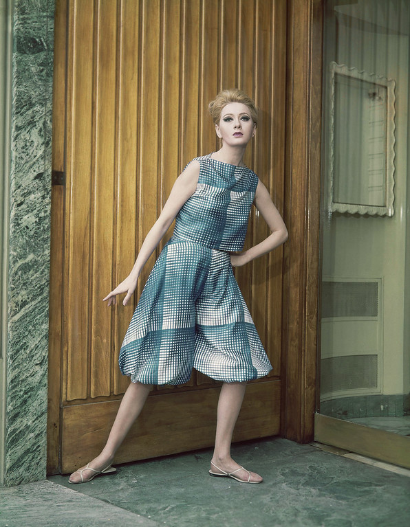 . A cocktail dress of white and blue silk, consisting of a bolero and knee-length harem pants, called ?Zoave.? It is a creation by the Germana Maurcelli fashion house of Rome and Milan, and was presented at the Florence show of Italian spring and summer fashions, Jan. 18, 1965. (AP Photo)