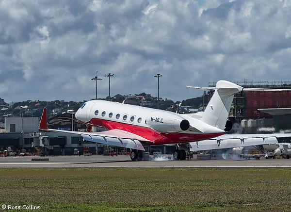 Gulfstream G650 M-ABJL at Wellington 2018