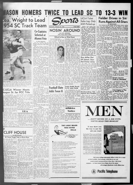 Daily Trojan, Vol. 45, No. 80, February 24, 1954