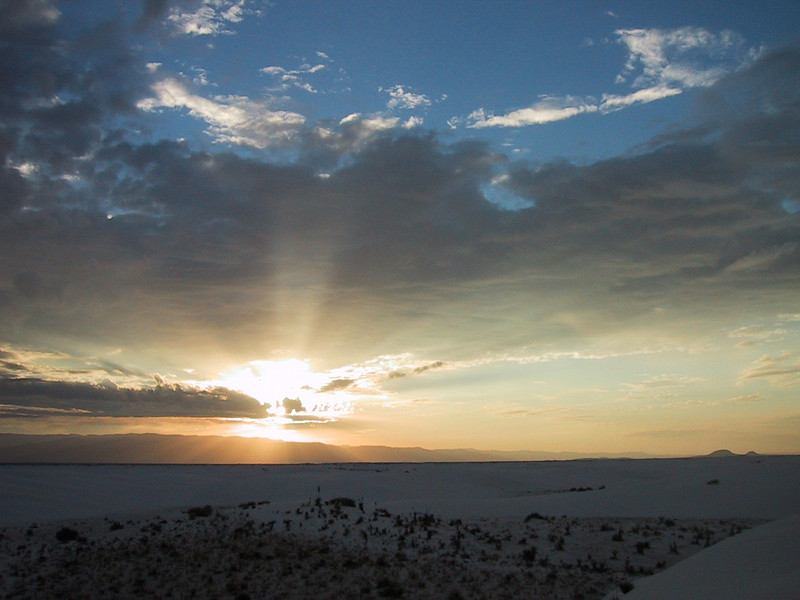 Sunrise over White Sands