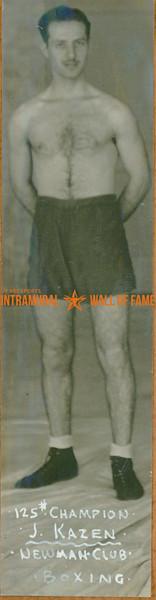 BOXING 125 lbs Champion  Newman Club  J. Kazen