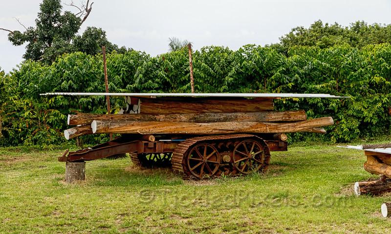 Old Log Trailer