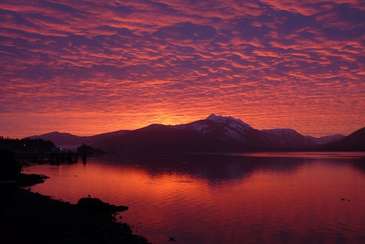 Glorious Sunrise February 2012, Cynthia Meyer, Tenakee Springs, Alaska
