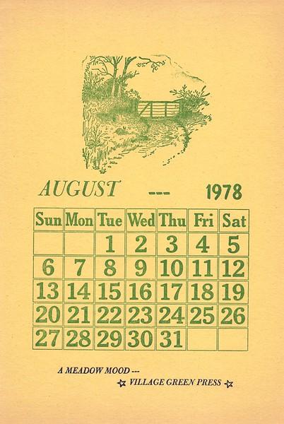 August, 1978, Village Green
