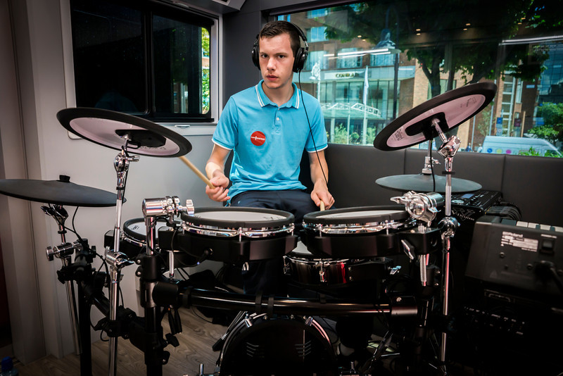 2013_08_07, drums, Ireland, JLETB, Music generation, national concert hall, roland, student session, students, eu.lb.org