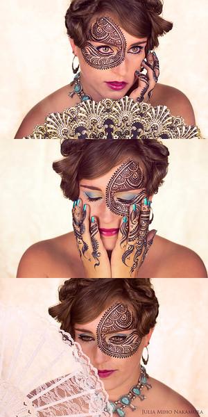 Hair/ makeup/ facepaint/ photography: Julia Miho Nakamura