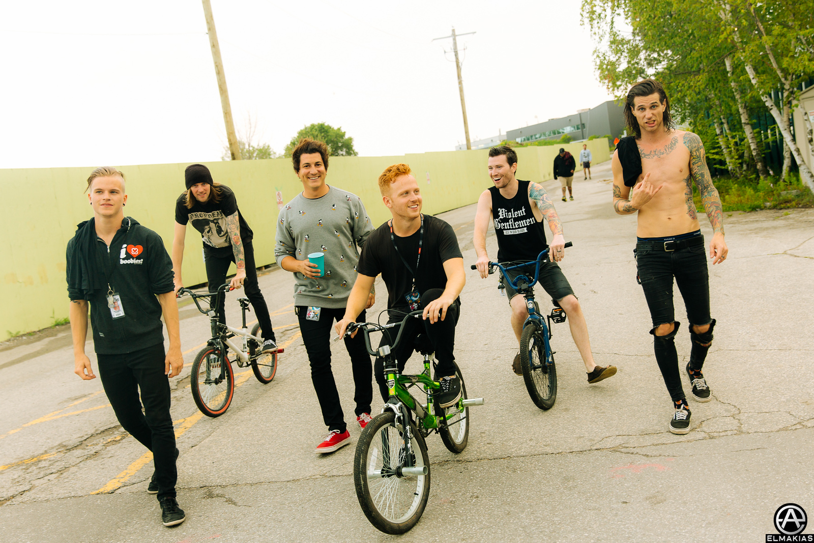 Pierce the Veil and Blessthefall at Warped Tour 2015 by Adam Elmakias