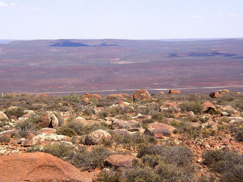 Looking over the plateau from the obervatory