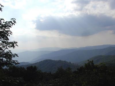 Heintooga Overlook View Balsam Mtn Road  GSMNP NC  6/17/07