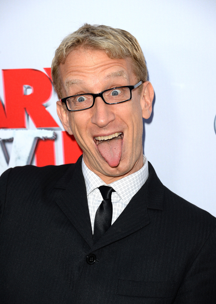 """. Actor Andy Dick arrives at the Dimension Films\' \""""Scary Movie 5\"""" premiere at the ArcLight Cinemas Cinerama Dome on April 11, 2013 in Hollywood, California.  (Photo by Jason Merritt/Getty Images)"""