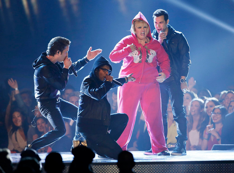. Host Rebel Wilson opens the show at the 2013 MTV Movie Awards in Culver City, California April 14, 2013.  REUTERS/Danny Moloshok