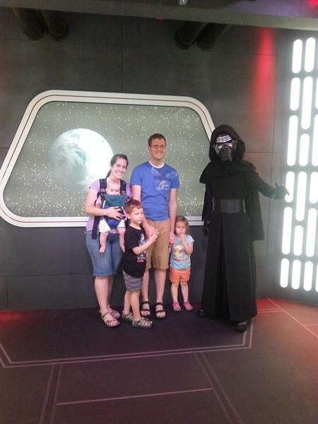 July 2016 - Paul and Kara family at Disneyland