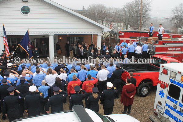 1/3/17 - Somerset Fire Department Captain Fred Newton Sr funeral service