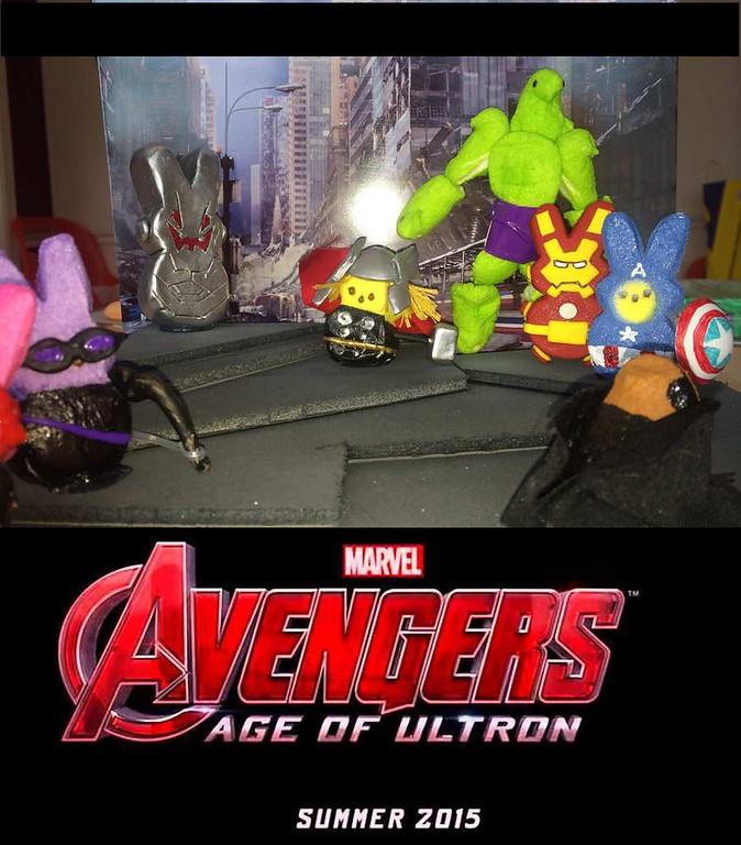 ". \""Peeps Avengers,\"" by Michael Sharp"