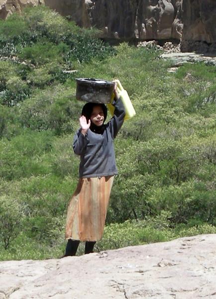 a girl in Beit Baws, near Sana'a