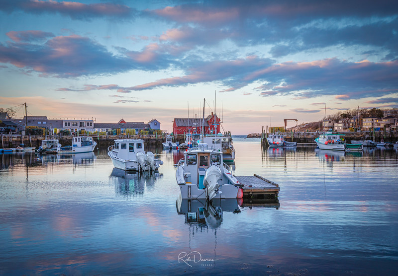 Rockport Harbor at Sunset