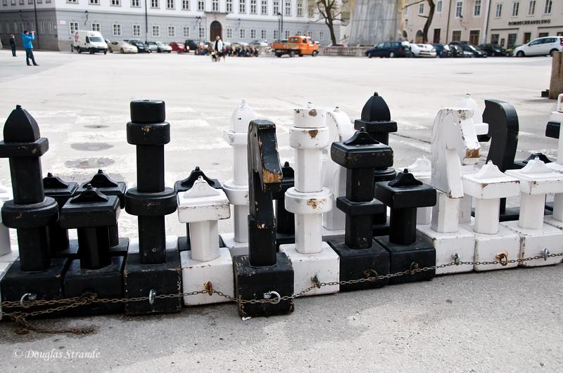 Outdoor chess set, Salzburg