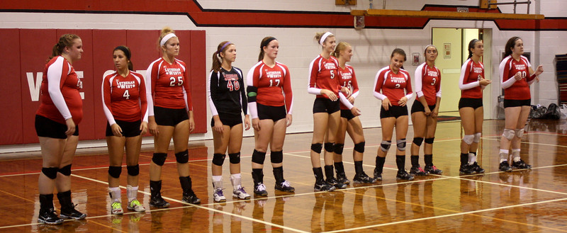 Lutheran West Volleyball vs. Hearts for Jesus - August 25, 2012
