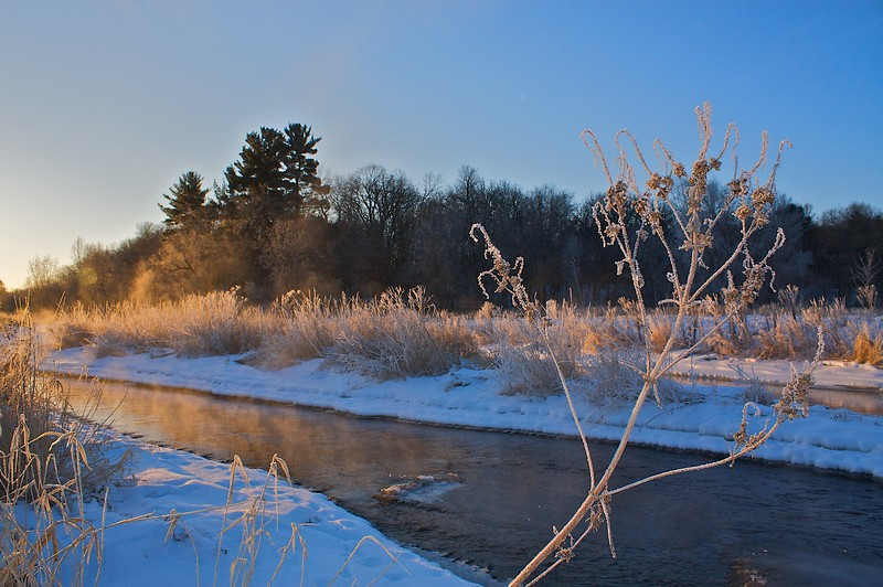 Willow River State Park Wisconsin. Sunrise