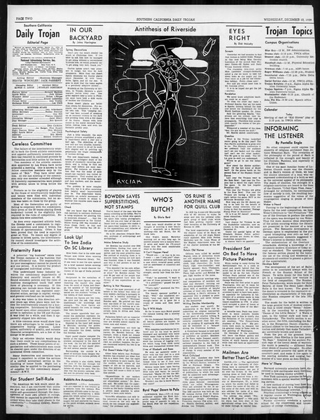 Daily Trojan, Vol. 31, No. 61, December 13, 1939