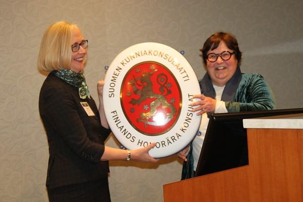 Finnish Honorary Consul Reception, Marianne Wargelin & Elaine Kumpula - Oct 2019