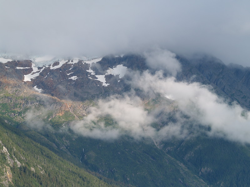 Break out into a bit of sun over Berner's Bay, about two hours out of Juneau.