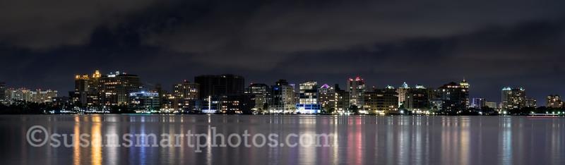 Sarasota's Bayfront at Night