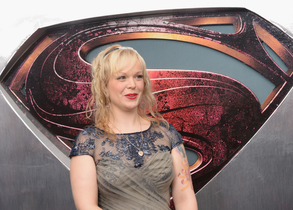 """. Singer Allison Crowe attends the \""""Man Of Steel\"""" world premiere at Alice Tully Hall at Lincoln Center on June 10, 2013 in New York City.  (Photo by Andrew H. Walker/Getty Images)"""