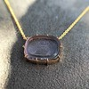 'INV My Letter' Pale Pink Glass Rebus Pendant, by Seal & Scribe 31