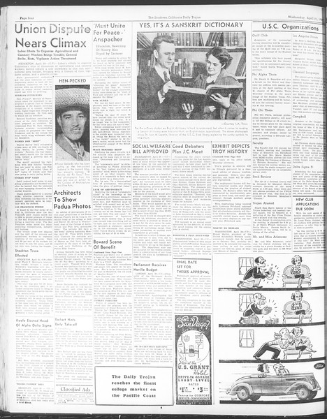 Daily Trojan, Vol. 28, No. 120, April 21, 1937