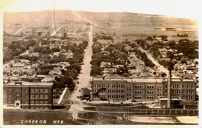 Chadron – looking north from C Hill (ca 1927-28)