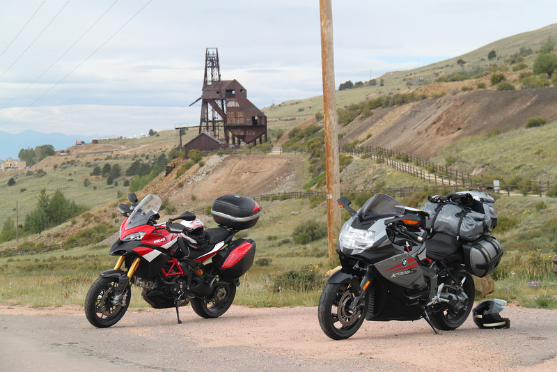 2/6 - Photo by Multistrada 1200 PP owner and ducati.ms forum member 'Duc PP' (aka Greg) - Near the Gold mining town of Cripple Creek, Colorado, USA - with mate's BMW K1300S