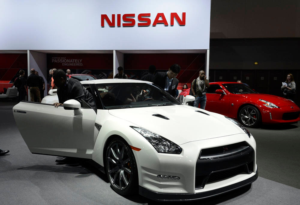 Description of . The 2013 Nissan GT-R is on display at the 2012 Los Angeles Auto Show in Los Angeles, California November 28, 2012.  REUTERS/Phil McCarten