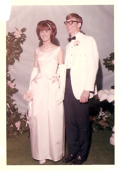Melanie & Wesley Wood - prom 1965 - 11th grade