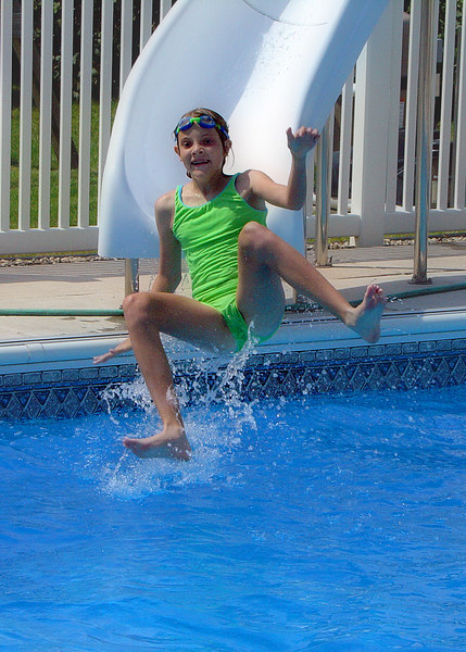 Fun on the slide - Emily...