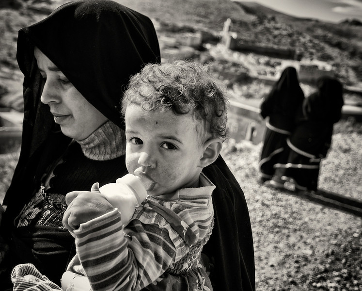 Berber woman and her baby.  Southern Morocco, 2010.
