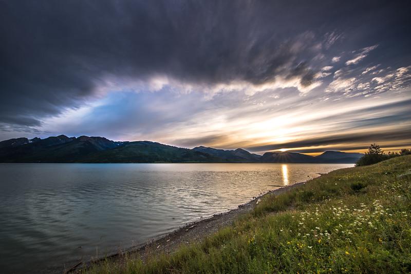 Sunset at Jackson Lake