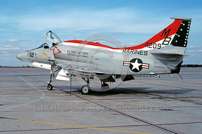 A-4 Skyhawk Easter Egg Military Airplane Pictures-US Navy