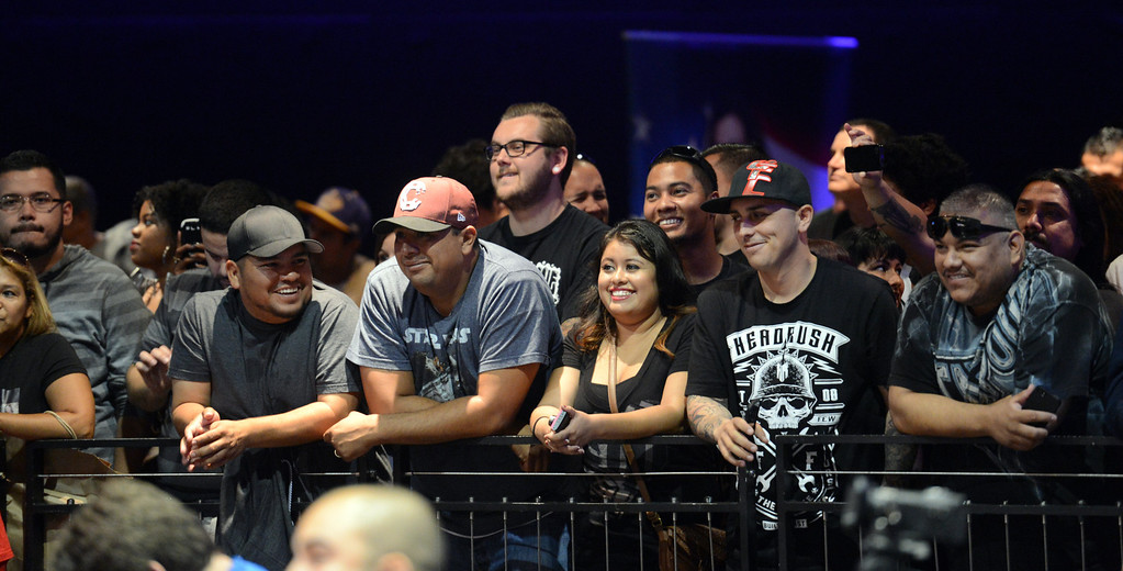 . Fans during the UFC World Tour at Club Nokia Tuesday, July 30, 2013 in Los Angeles. (Hans Gutknecht/Los Angeles Daily News)