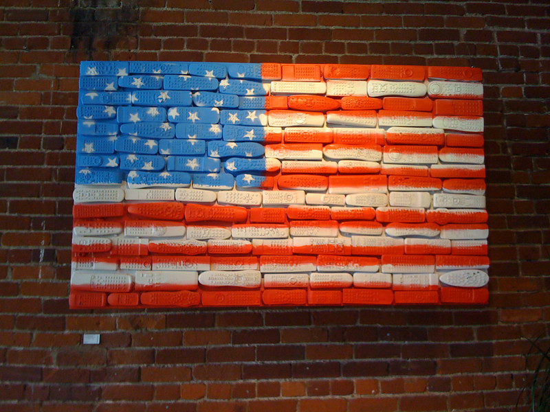 A message embodied in the flag.  The remote control flag.