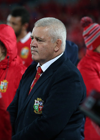 Warren Gatland during game 10 of the British and Irish Lions 2017 Tour of New Zealand, the third Test match between  The All Blacks and British and Irish Lions, Eden Park, Auckland, Saturday 8th July 2017 (Photo by Kevin Booth Steve Haag Sports)  Images for social media must have consent from Steve Haag