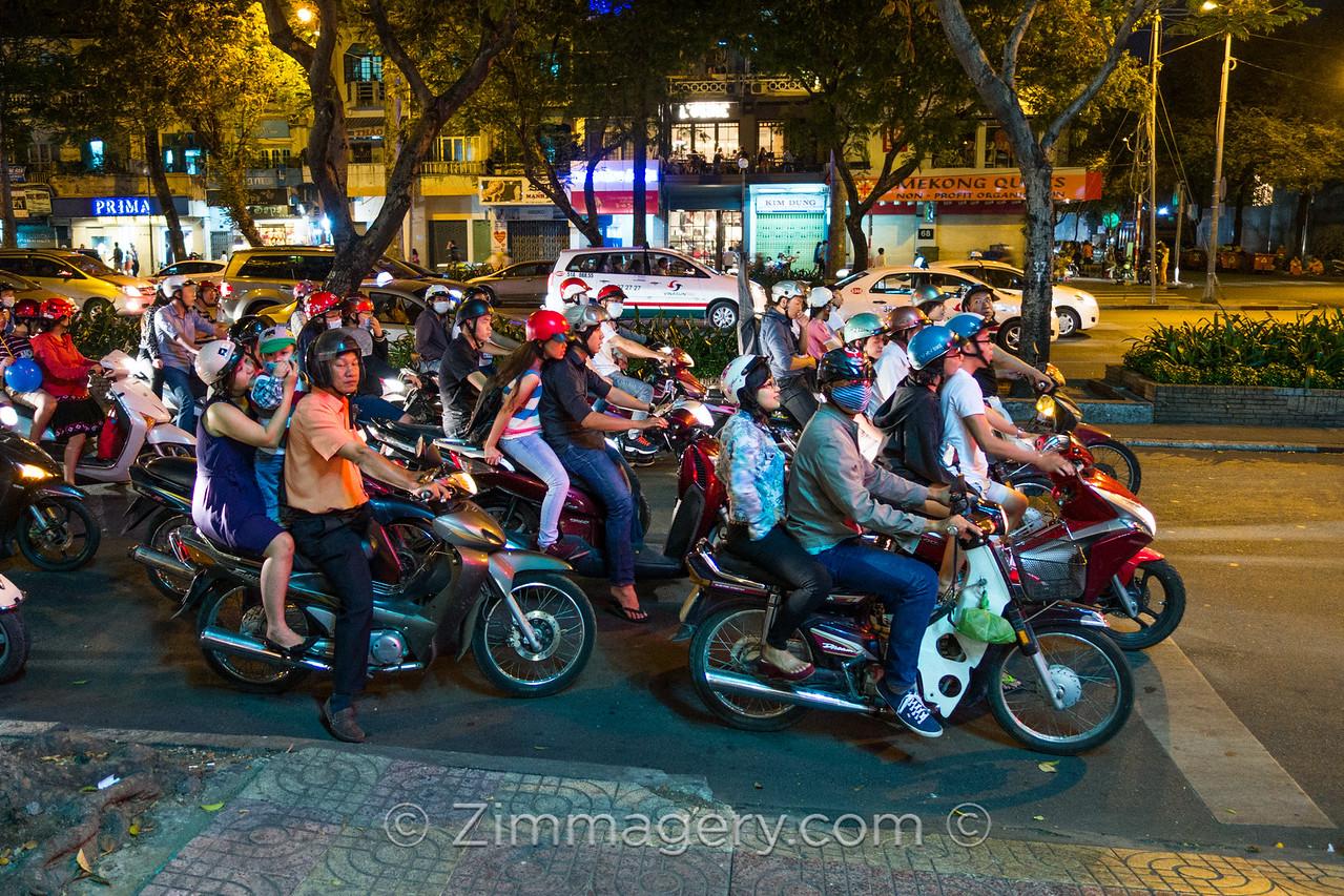 City of Scooters, Saigon, Vietnam