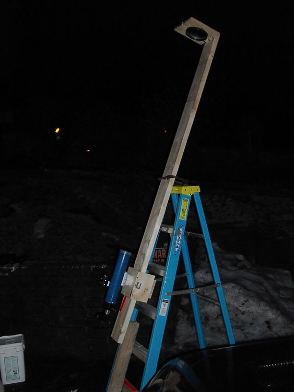 This was the first setup for the 6 inch f-15 refractor. For testing purposes.