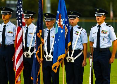 2017 Band, Color Guard, ROTC