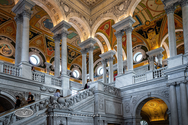 Library of Congress main hall staircase