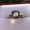 .53ctw Rose Cut Halo Ring, by Single Stone 11