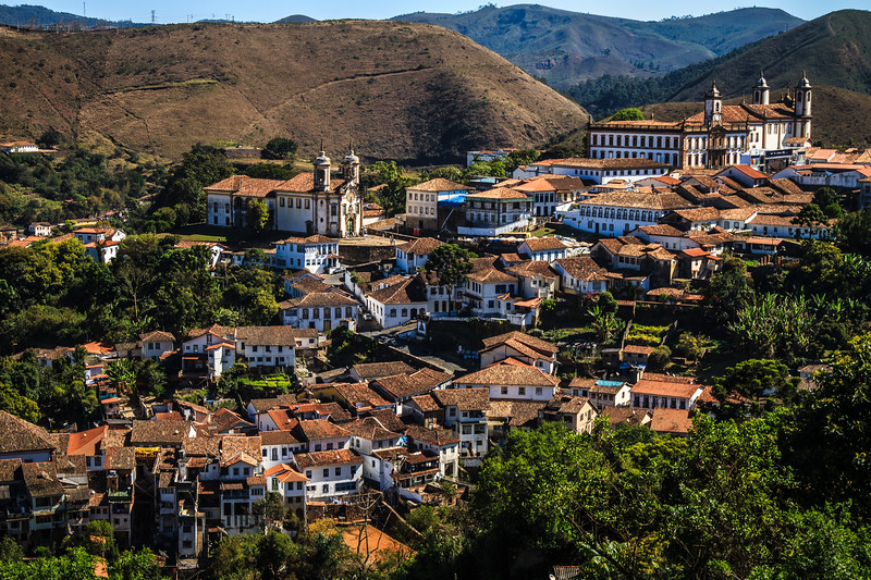Magnificent view over Ouro Preto on my way coming back from Mariana.
